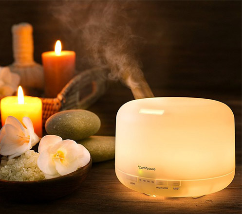 Essential Oil Aroma Diffuser Humidifier 7 LED Color Night