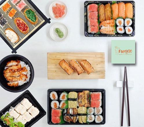 Paket Appetizer dan Bento di Furuto Sushi