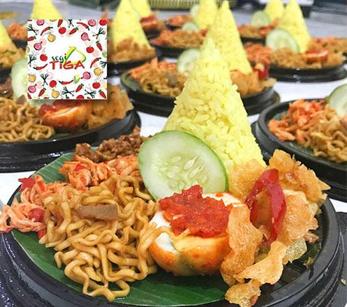 Paket Nasi Tumpeng Mini dari Segitiga Catering