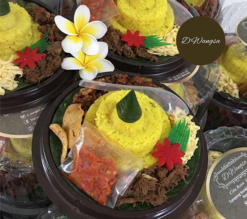 Paket Tumpeng Mini dan Nasi Bowl dari D'Wangsa Catering