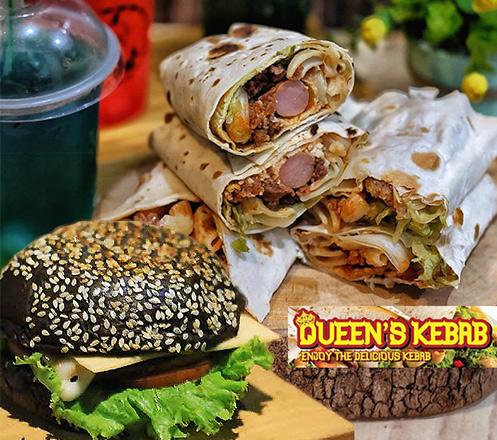 Paket Kebab, Black Burger at Queens Kebab