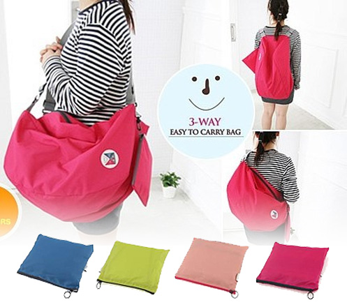3 Way Foldable Bag with Carrying Pouch