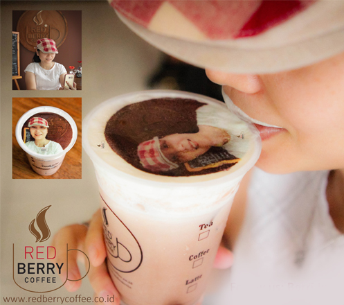 Drinkable Photo On Your Drink at Red Berry Coffee