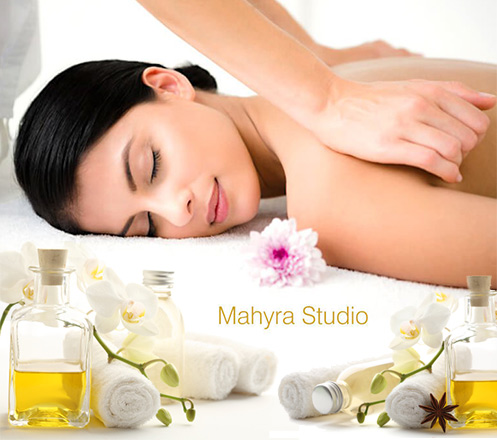 Full Body Massage & Scrub for 90 min at Mahyra Studio