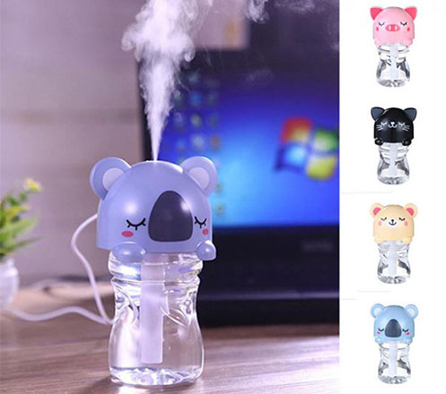 Cartoon Bottle Caps Humidifier LED 280ml