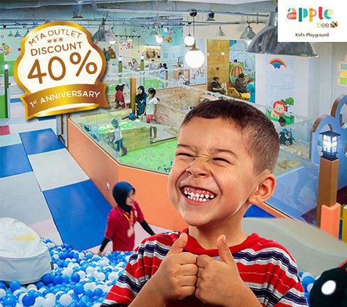 Diskon 40persen!!! 1st Anniversary Applebee Kids Playground MTA