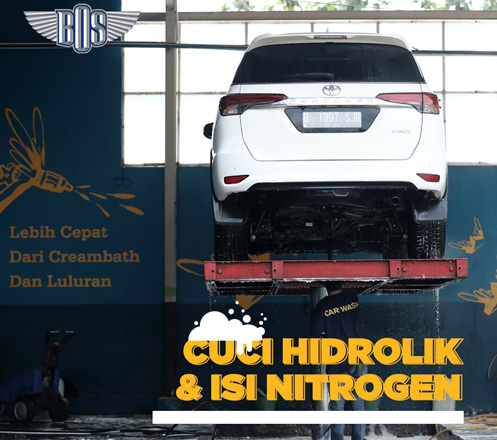 Isi Nitrogen dan Cuci Hidrolik dari Bengkel BOS 02