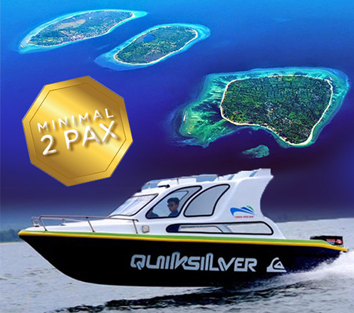 Private Speed Boat Lombok-Gili Trawangan-Lombok plus Car Rental
