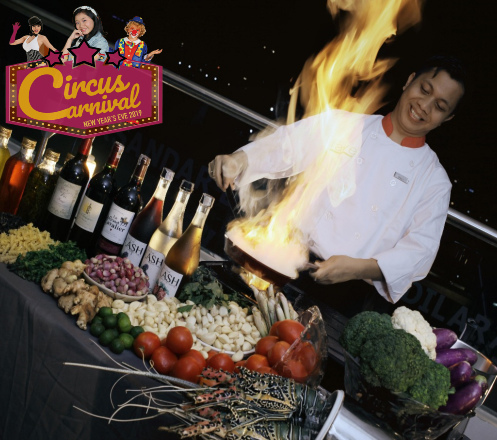 Dinner Party at Circus Carnaval New Years Eve Favehotel LTC Glodok