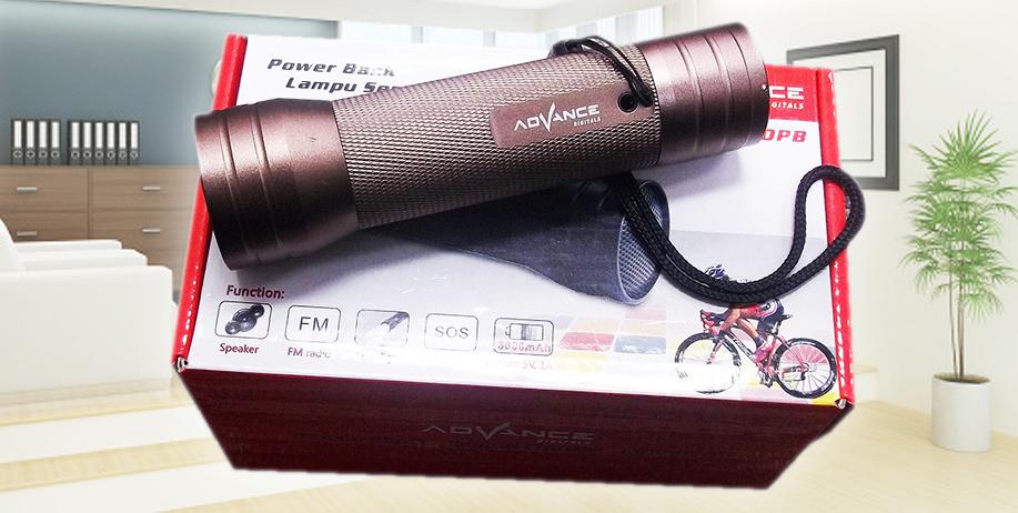 Promo Spesial Powerbank 3000mAh Lampu Senter Speaker