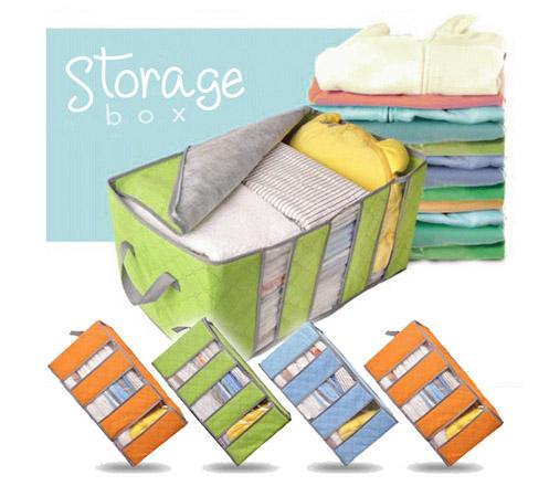 Bamboo Storage Box Organizer