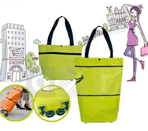 Foldable Eco Shopping Trolley Bag