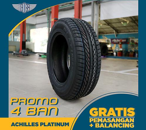 Promo 4 Ban Mobil Achilles Platinum - GRATIS PASANG dan BALANCING