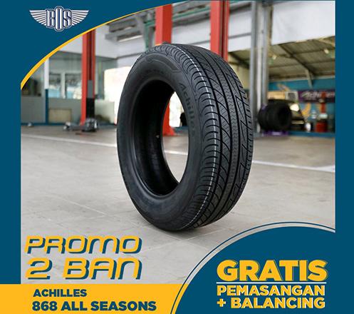Promo 2 Ban Mobil Achilles 868 All Seasons - GRATIS PASANG DAN BALANCING