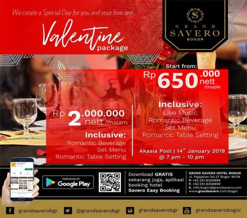 Valentine Day Dinner at Grand Savero - Bogor