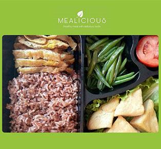 Paket Menu Diet dari Mealicious.id...